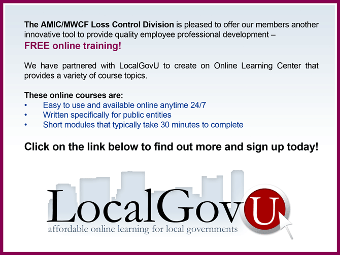 Local Gov U Training