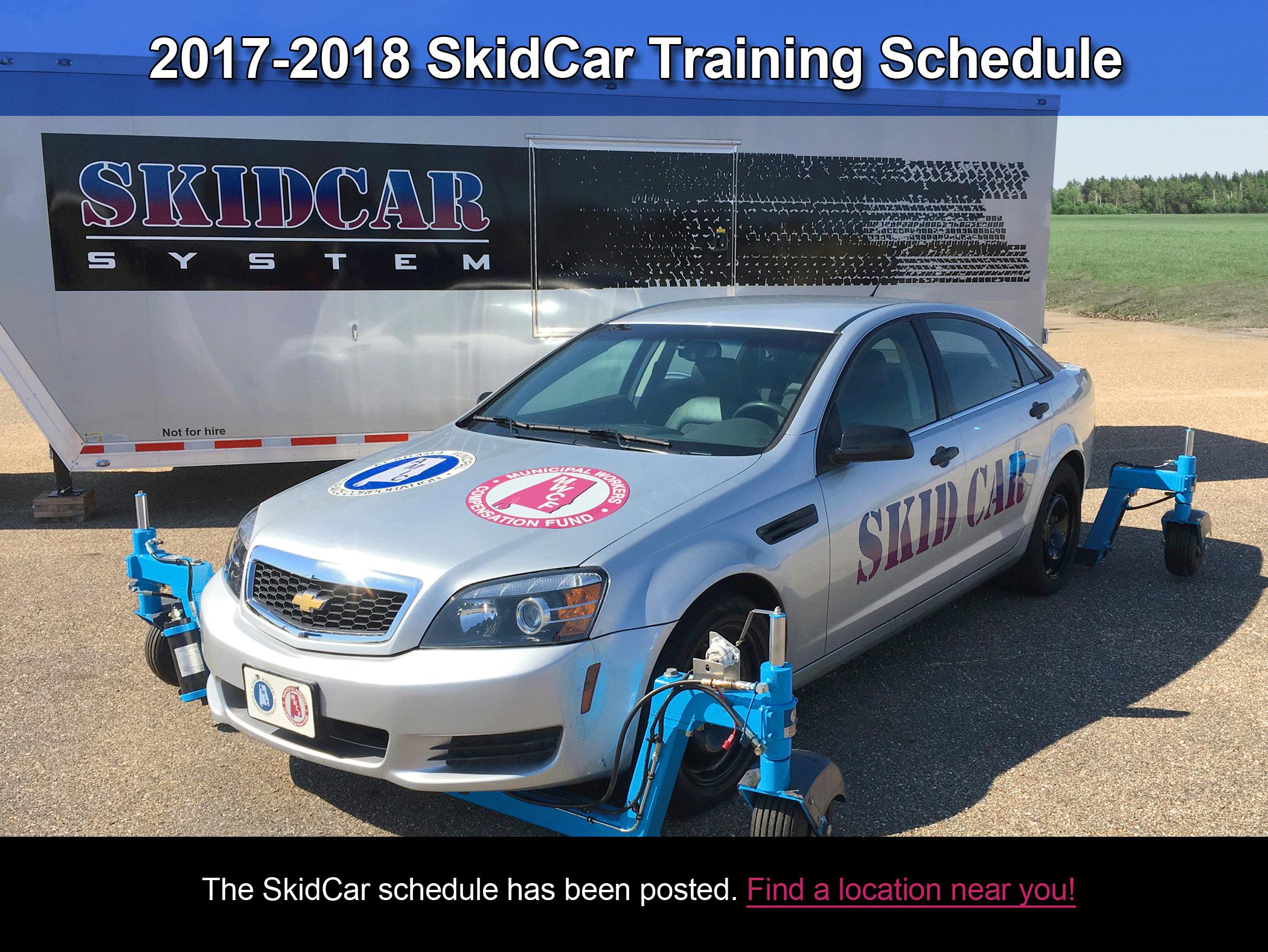 2017 Skid Car Schedule
