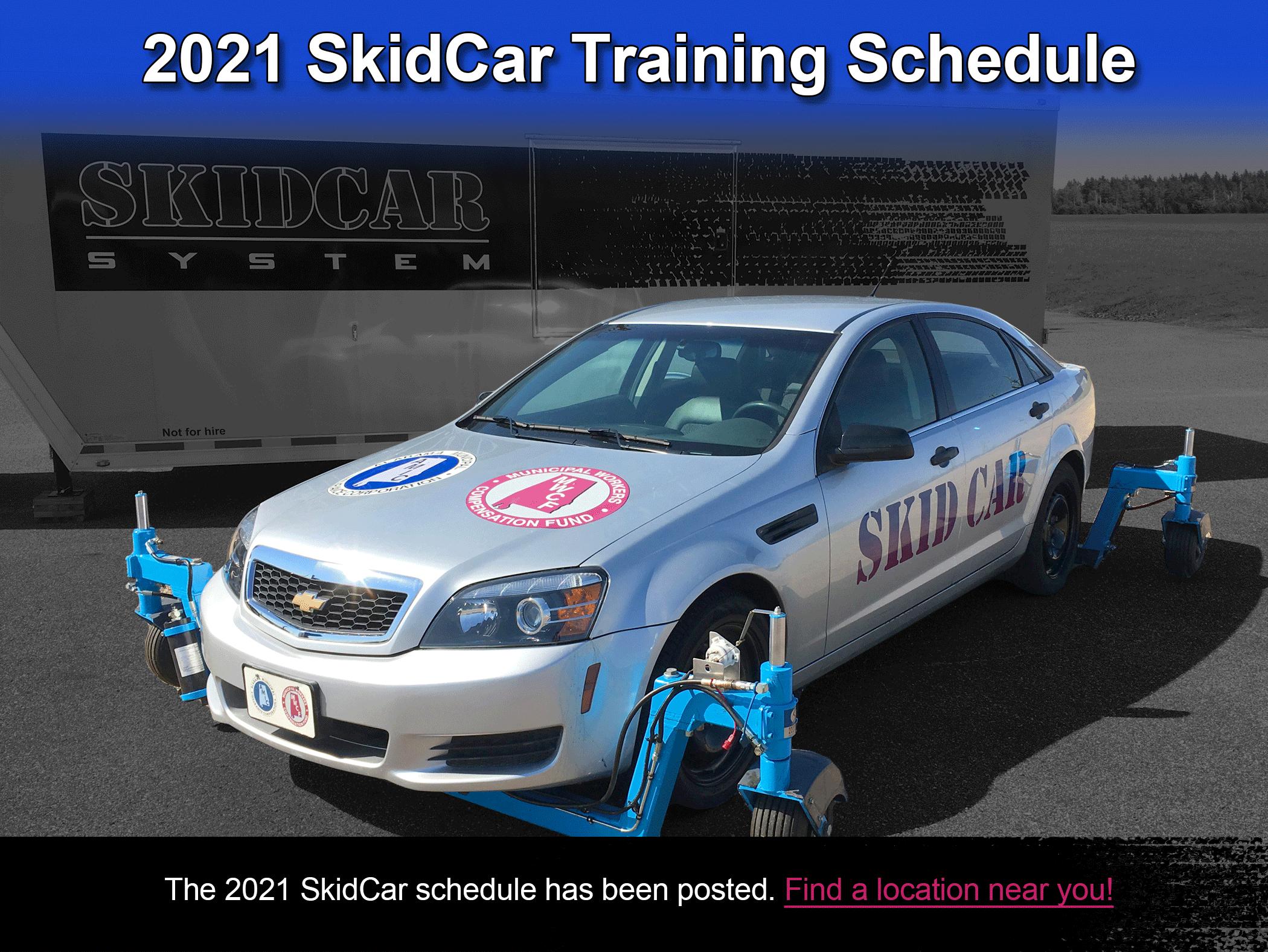 2021 SKIDCAR Schedule